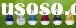 2012 NEW Indoor Product Led bulb light E26/E27 COB packaging plastic colorful housing