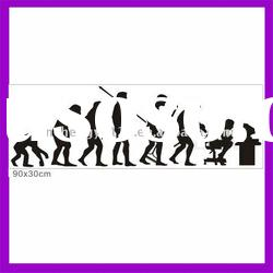 2012 New products human evolution custom wall stickers