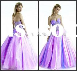 2012 Top Quality, Ball Gown and Organza Evening Dress,P-ED-358