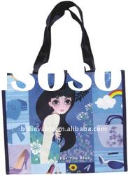 2012 full color laminated pp non woven shopping bag