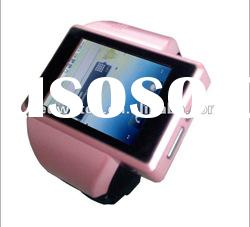 2012 latest Android OS 2.2 smart watch mobile with G sensor, 3G