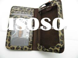 2012 new arrived Leather Wallet Case Ultra Slim Folio Cover for iPhone 4s Book