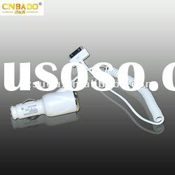 2012 newest good quality white color cell phone car charger