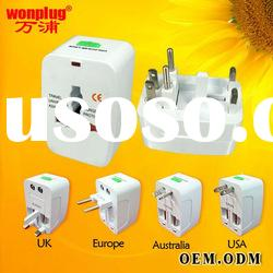 2012 promotional universal travel adapter with surge protection/CE&ROHS approval