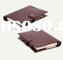 25K new fashion leather cover notebook