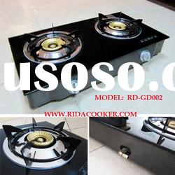 2 Burner Glass Top Table Gas Cooker (RD-GD002)