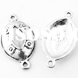 36x20mm metal alloy charms pendant antique silver plated jewelry connector for bracelet making