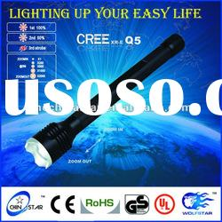 3*AA High Power Zoom CREE Q5 Aluminum Flashlight Torch