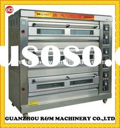 3 layers 6 trays bread gas oven,bakery gas oven,gas oven