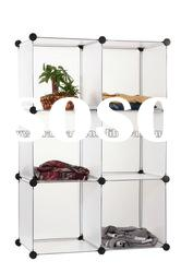 3 layers white PP plastic combined storage cabinet