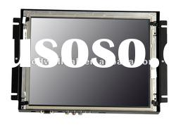4:3 S-Video VGA Input metal frame open frame lcd 12.1 inch touch screen monitors