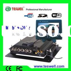 4ch hdd vehicle dvr with gps 3g wifi