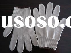 6/s bleached white 10 guage cotton gloves/chinese hand gloves