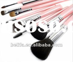 8pcs pro pink makeup brush set with case