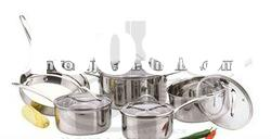 9pcs straight shape stainless steel cookware set