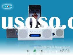 AF-03 Mini Multimedia Portable Real Sound for Ipod/Iphone speaker with FM radio