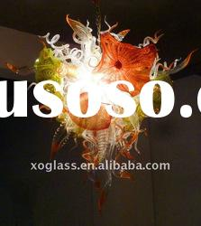 Art glass blown chandeier lighting xo-201100 glass decorative pendant lamp
