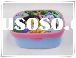 BPA-free PP Plastic Food Container Box Bin with Heat Transfer Print