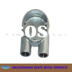 BS 4568 Electric Galvanized Malleable Iron Two Way Box Circular U Way Conduit fitting