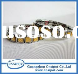 Bio Magnetic Stainless Steel Health Bracelets Anion Bands