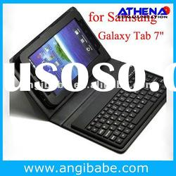 Bluetooth Wireless Keyboard Leather Case for P6200 Tab Plus Tablet PC