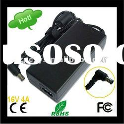 CE FCC ROHS 16V 4A Laptop AC Adapter for Sony