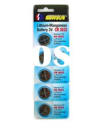 CR2032 coin cell battery with blister card packing,5pcs/card