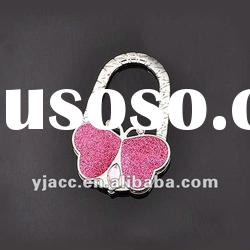 Charming crystal red butterfly purse hook