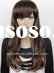 Chocolate synthetic hair fashion lace wigs