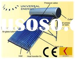 Compact pressurized solar water heater with 200L/24 tubes