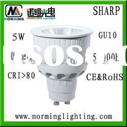 Competitive Sharp COB GU10 5W spot lamp led base