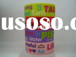 Debossed wide silicone wristband 1 inch bracelet