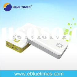Dual USB External Battery Pack and Charger /Power Bank with flashlight for iPhone 4/4S/3GS