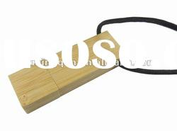 Eco-friendly bamboo usb flash memory promotional gift with lanyard