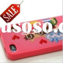 Emotional neo cross stitch DIY Case Skin Back Cover for Apple iPhone 4 4G 4S New