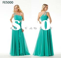 FE5000 Chiffon One Shoulder Floor Length Formal Evening Dress