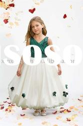 FG037 New design ball gown sleeveless bubble skirt beach flower girl dresses 2012