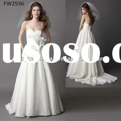 FW2936 Sweetheart Taffeta Empire Wedding Dress With Open Back