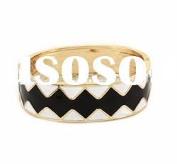 Fashion Jewelry, Zigzag Alloy Enamel Bangle