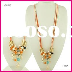 Fashion Long Big Beads Alloy Necklace, Fashion Lady Accessories