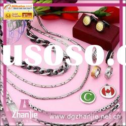 Fashion jewelry stainless steel costume rings jewelry set