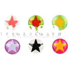 Fashionable Star Button Sticker Skin for iPhone/iPad/iPod touch