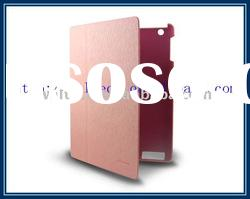 Folio leather case cover for ipad 2(in stock)