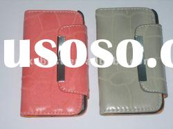 For iPhone 4G 4S Leather Case With Card Holder