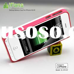For iPhone 4 Hot Sales External Battery Power Pack Case 1450mAh