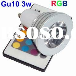 Free express delivery ! 3W GU10 Remote Control 16 Color RGB LED Light Lamp