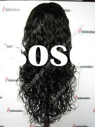"Full lace wig Indian remy hiar 20"" natural color natural curl Lace wig in stock"