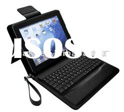 Good quality leather bluetooth Keyboard Case for iPad