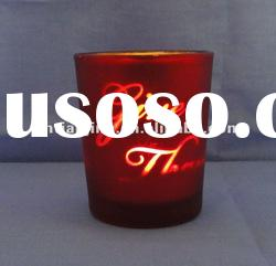 Hand printd glass candle holder for Wedding Decoration