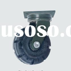 Heavy duty iron core swivel hard rubber caster wheels